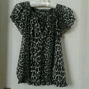 Animal Print Top Blouse